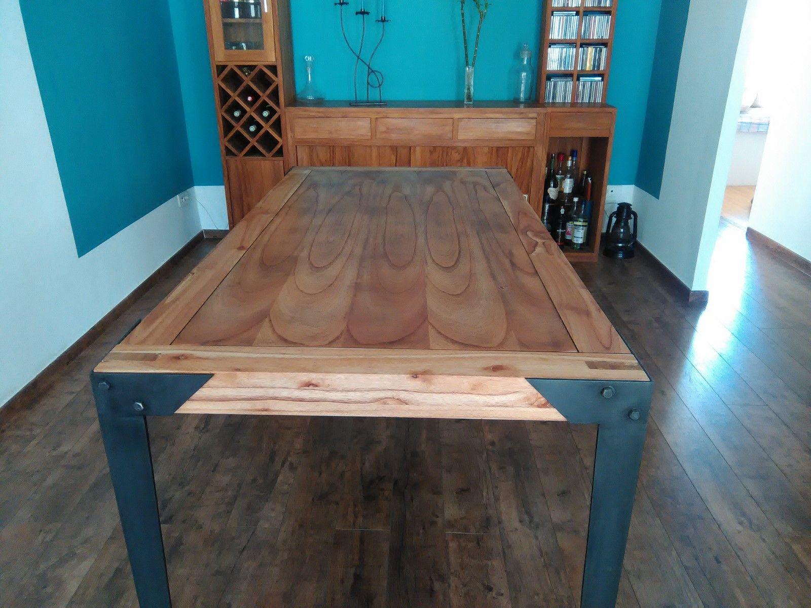 Table de salle manger sur mesure hy res freestyle forge for Table salle a manger sur mesure